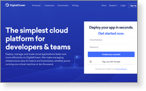 Digitalocean, LLC - Site Screenshot