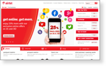 Bharti Airtel Ltd - Site Screenshot