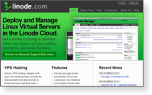 Linode - Site Screenshot