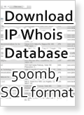World IP Whois Full MySQL Database - May